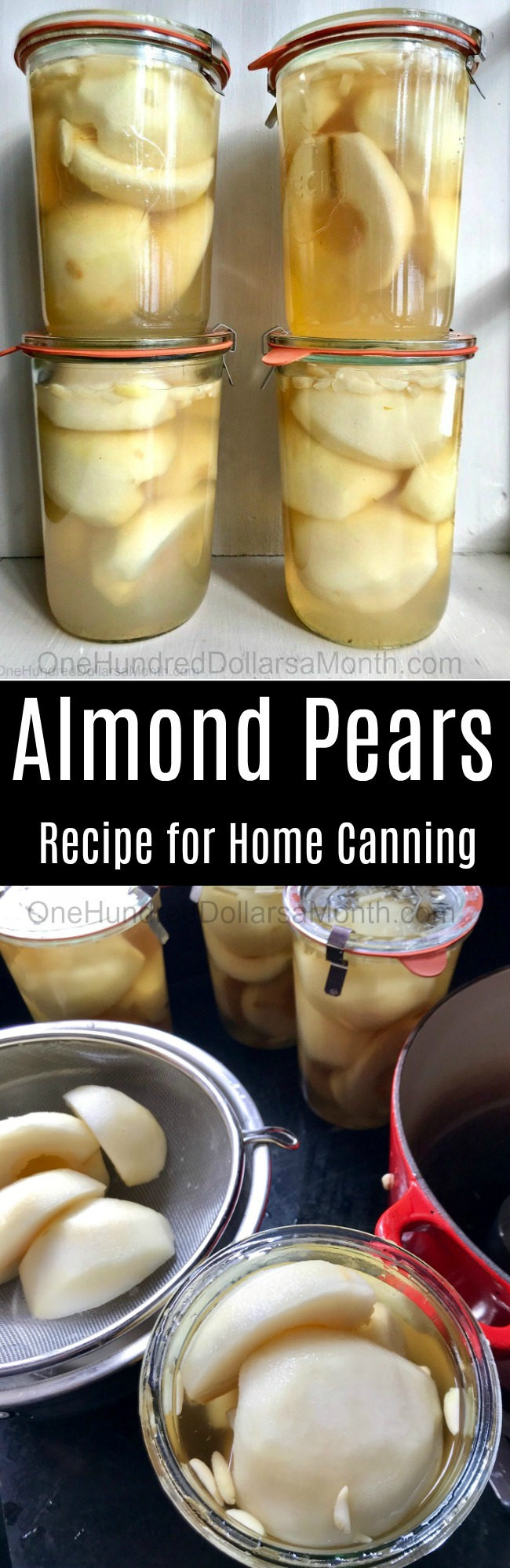 Almond Pears – Home Canning Recipe