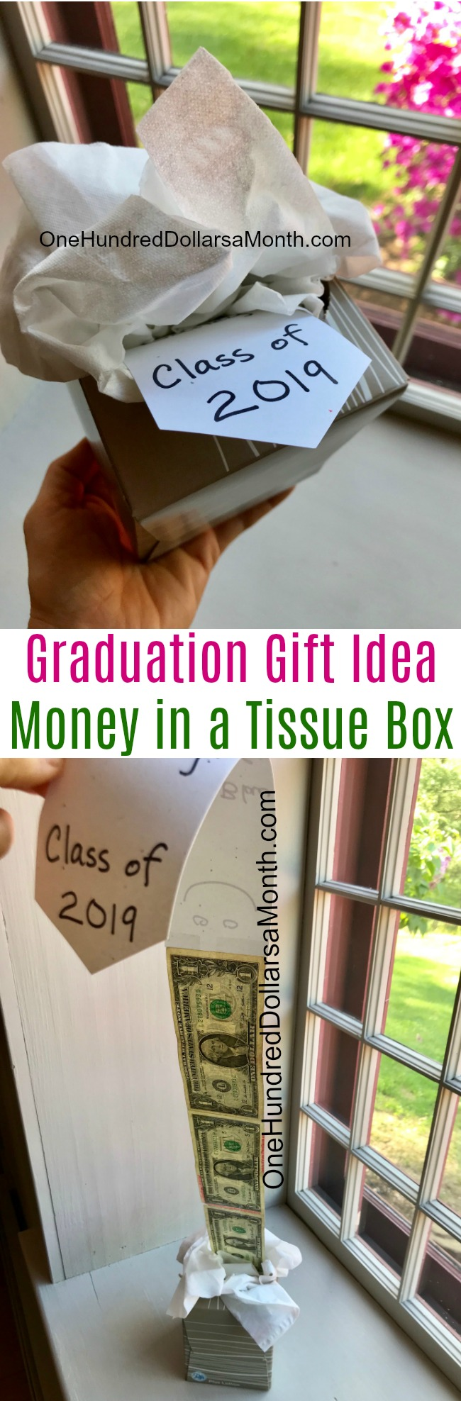 Graduation Gift Idea – Money in a Tissue Box