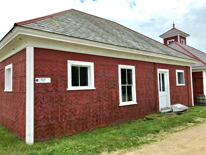 Canterbury Shaker Village power house tin siding slate roof ...