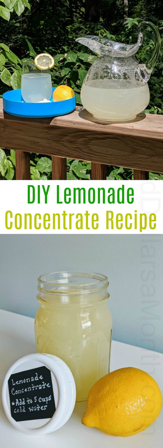 Mel's DIY Lemonade Concentrate Recipe