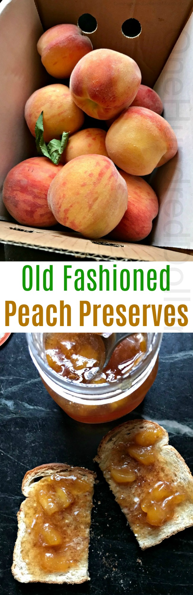 Recipe for Old Fashioned Peach Preserves