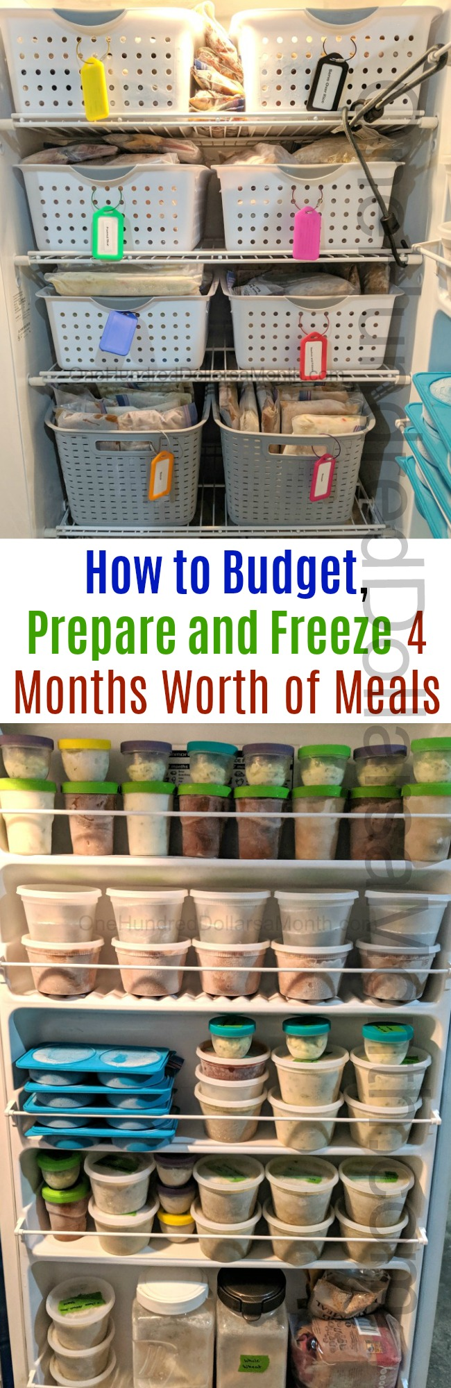 Freezer Meal Ideas ~ A Freezer Meal Menu Plan for Four Month's Worth of Meals