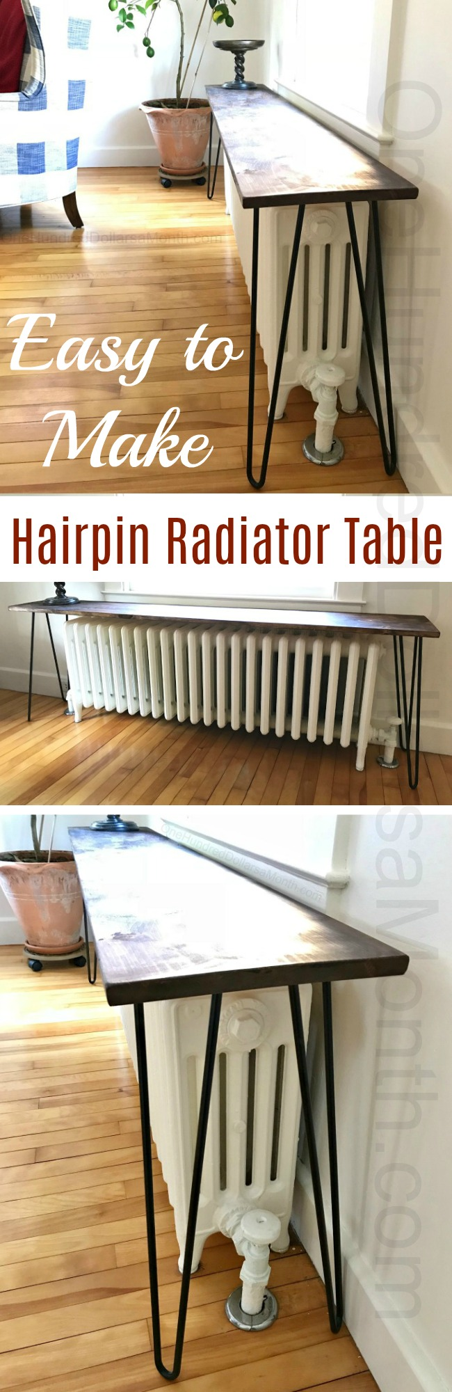 DIY Hairpin Radiator Table