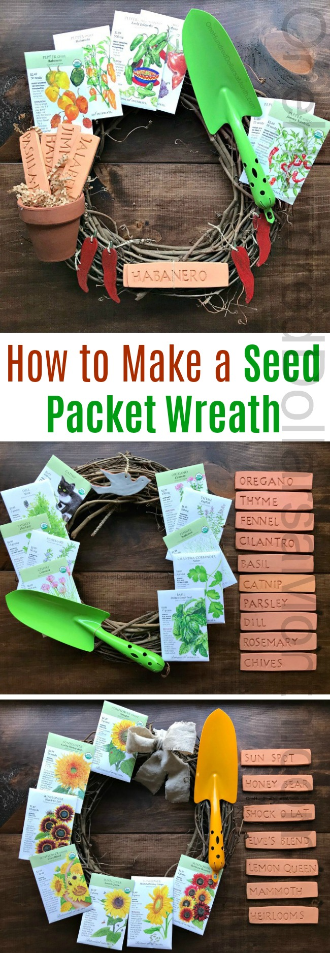 How to Make a Seed Packet Wreath