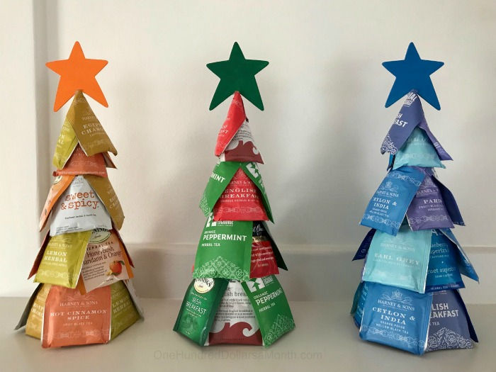 Tea Bag Christmas Tree Tutorial