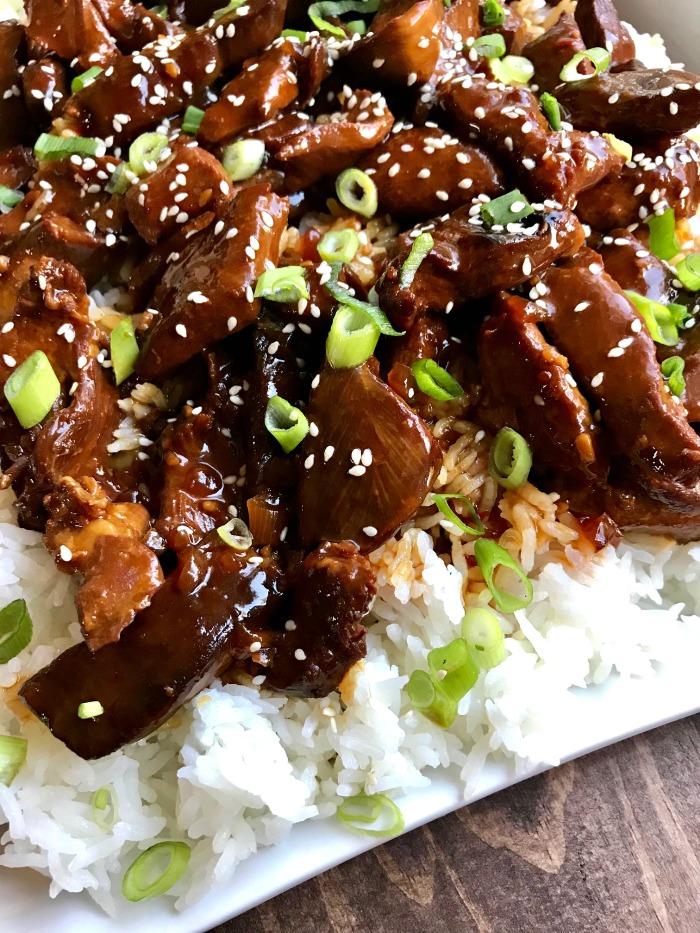 Easy Slow Cooker Recipes- Sticky Honey Sesame Chicken