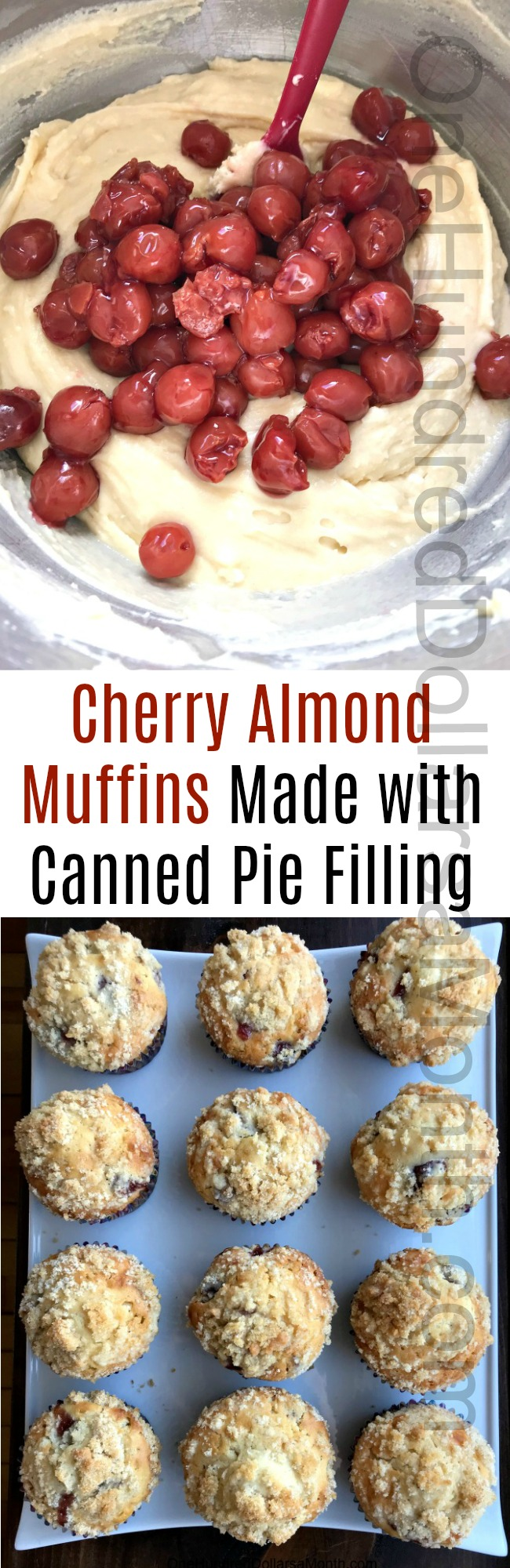 A Recipe for Cherry Almond Muffins Made with Canned Pie Filling … Sort Of