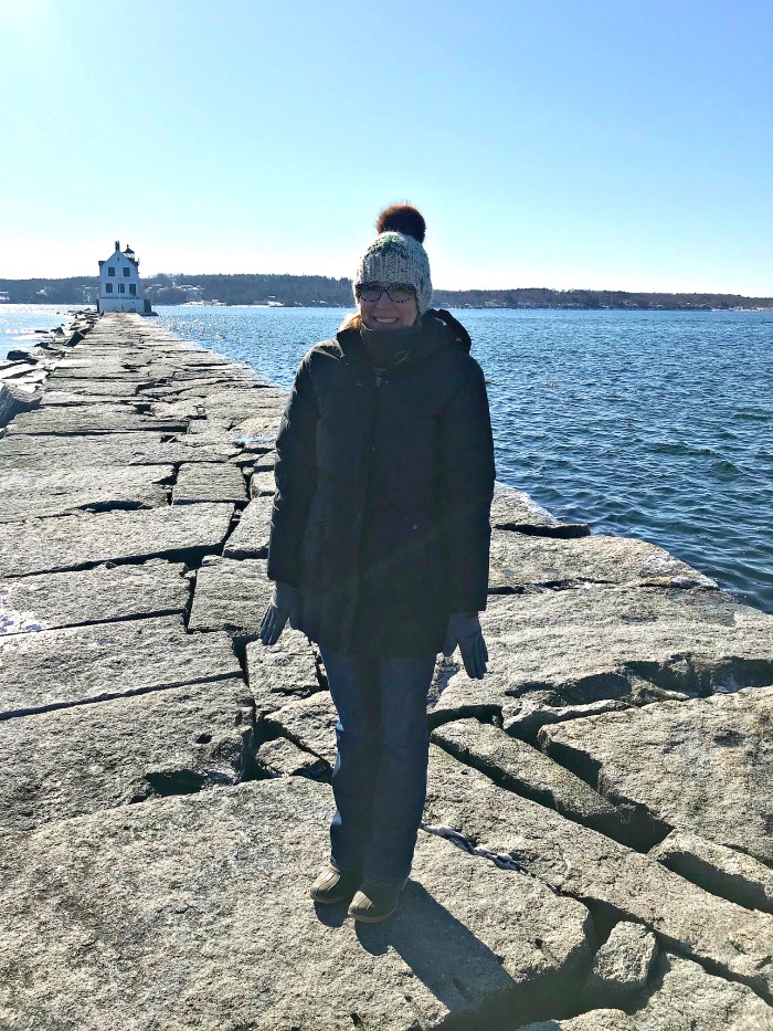 The Walk to Breakwater Lighthouse in Rockland, Maine