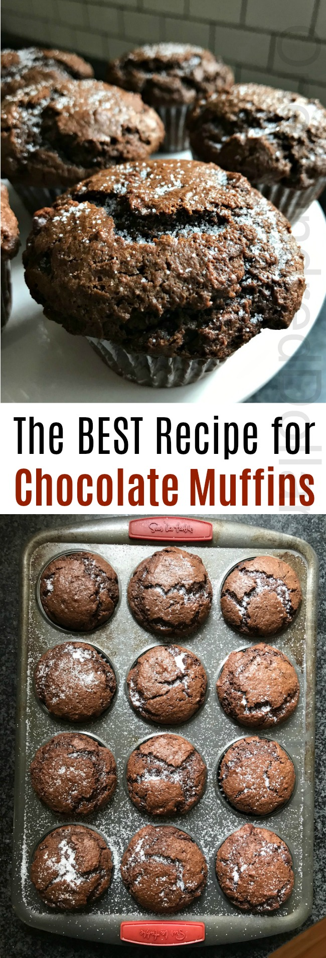 The BEST Recipe for Chocolate Muffins
