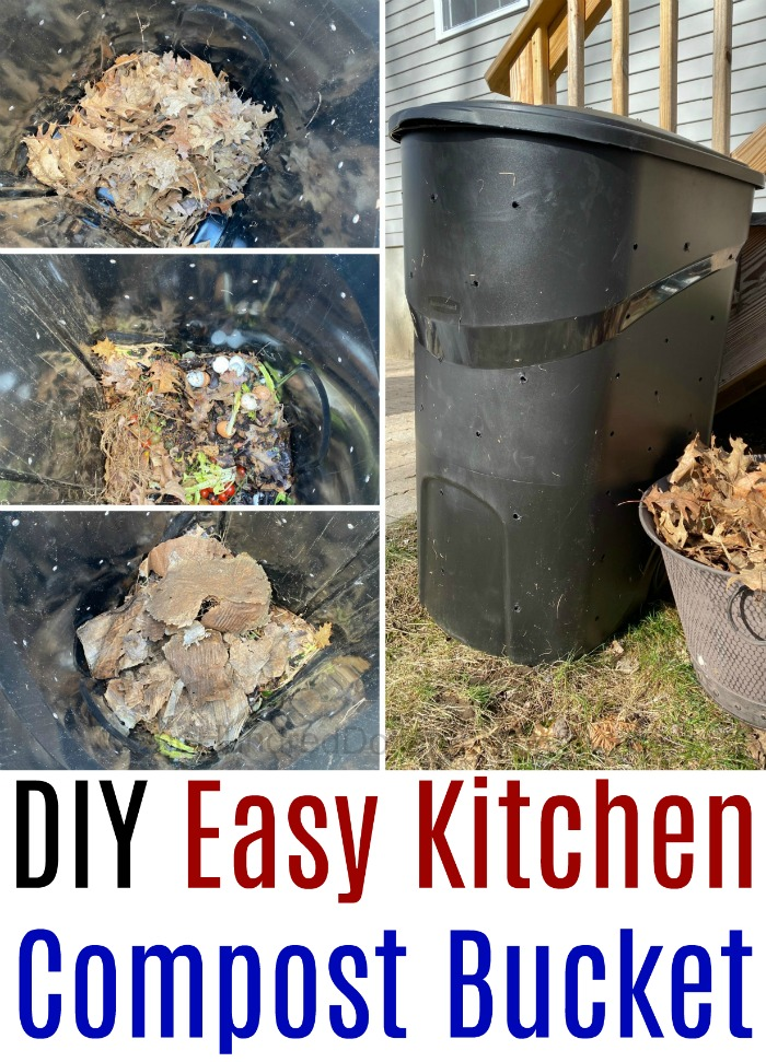 DIY Easy Kitchen Compost Bucket