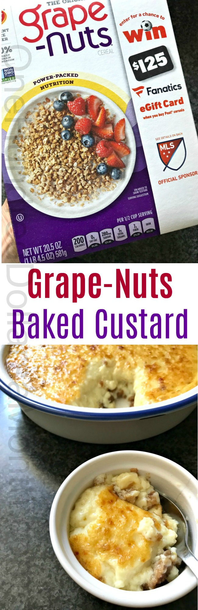 Grape-Nuts Baked Custard Recipe