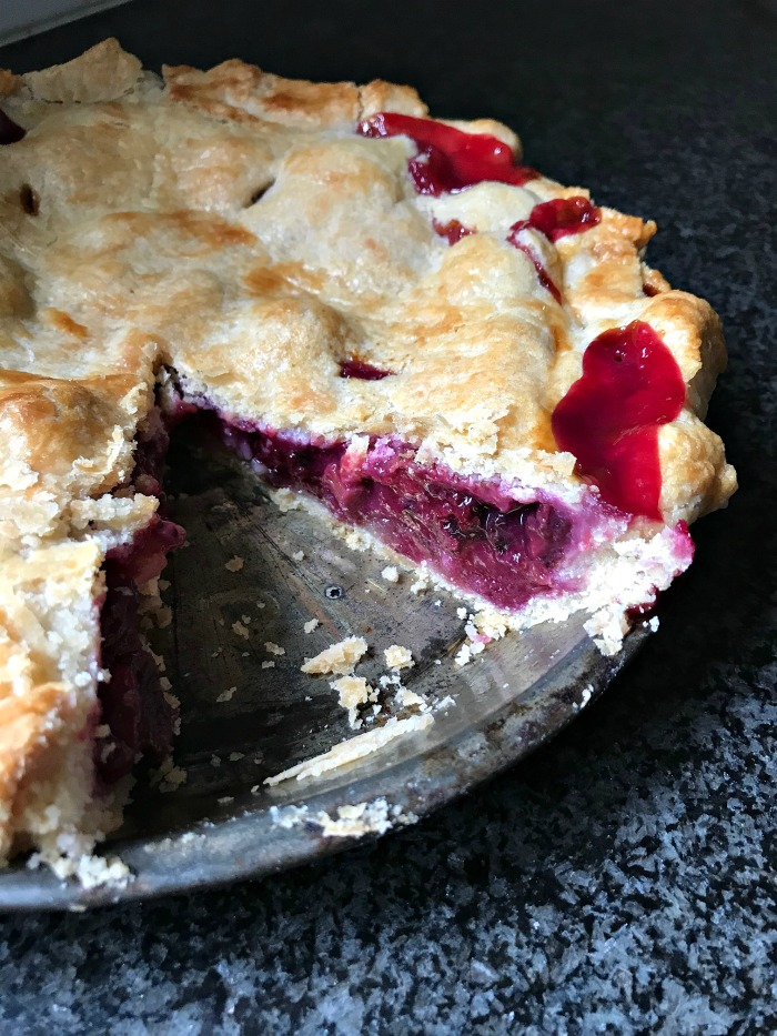 The Best Rhubarb Berry Pie Recipe on the Planet