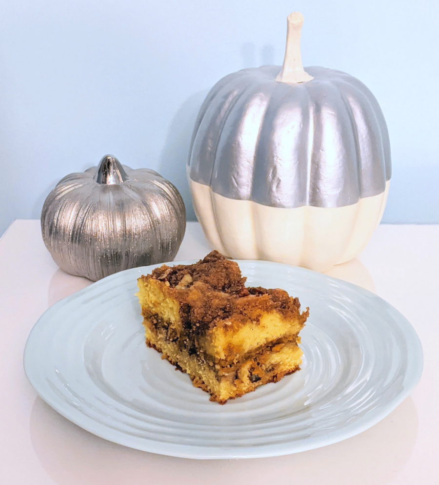 Stolen Sour Cream Pumpkin Streusel Coffeecake