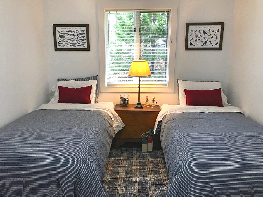 The Double Twin Guest Bedroom at Camp Butterfield
