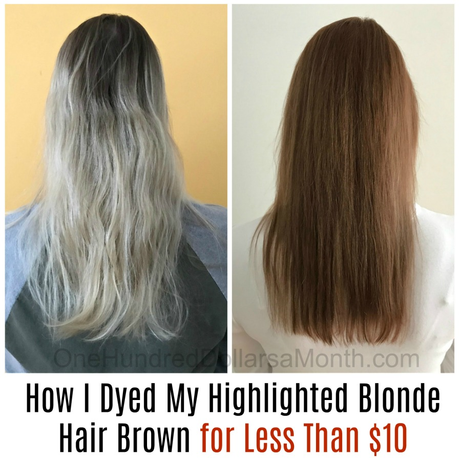 How I Dyed My Highlighted Blonde Hair Brown for Less Than $10