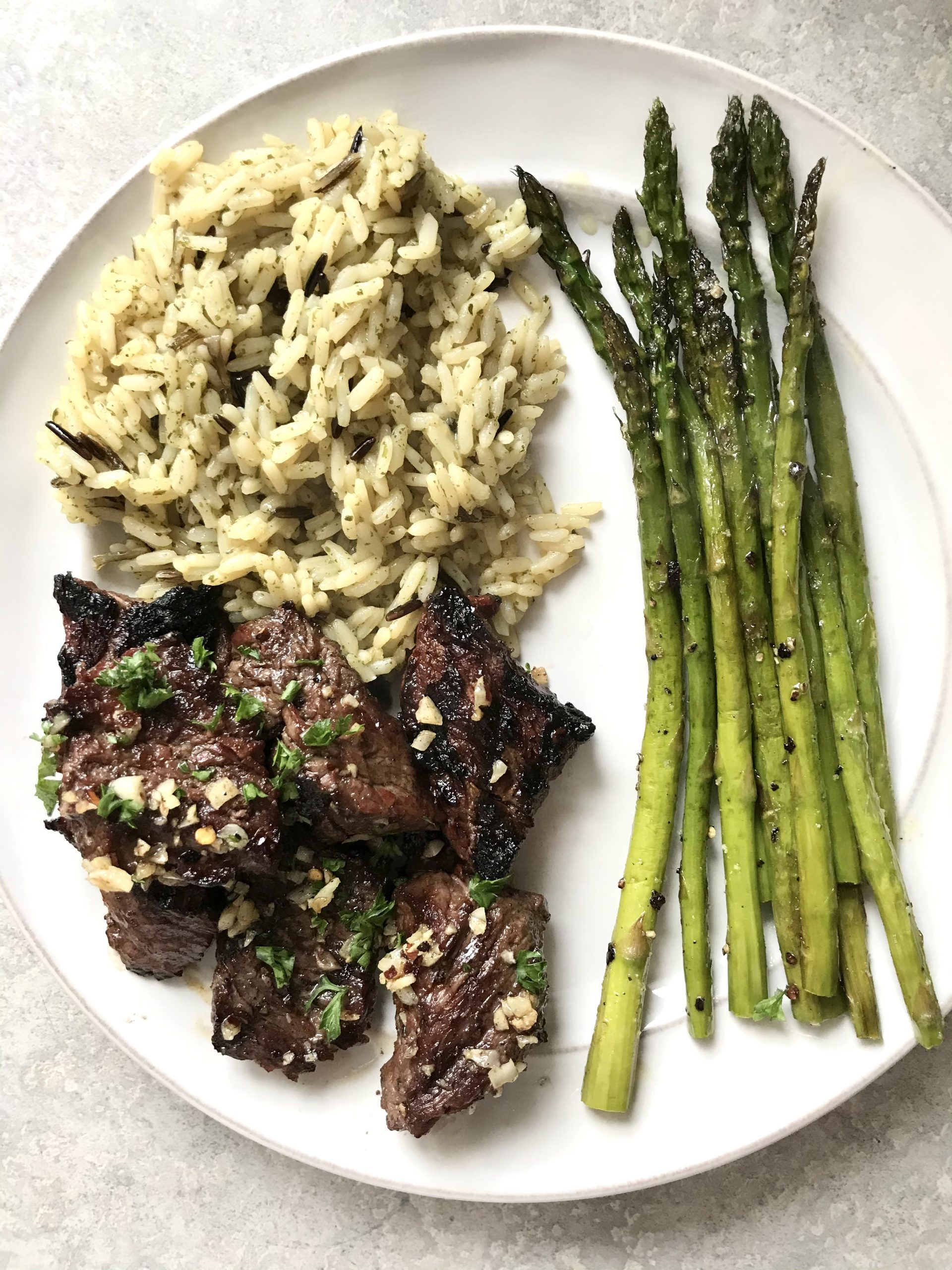 Grilled Steak Tips with Garlic Butter