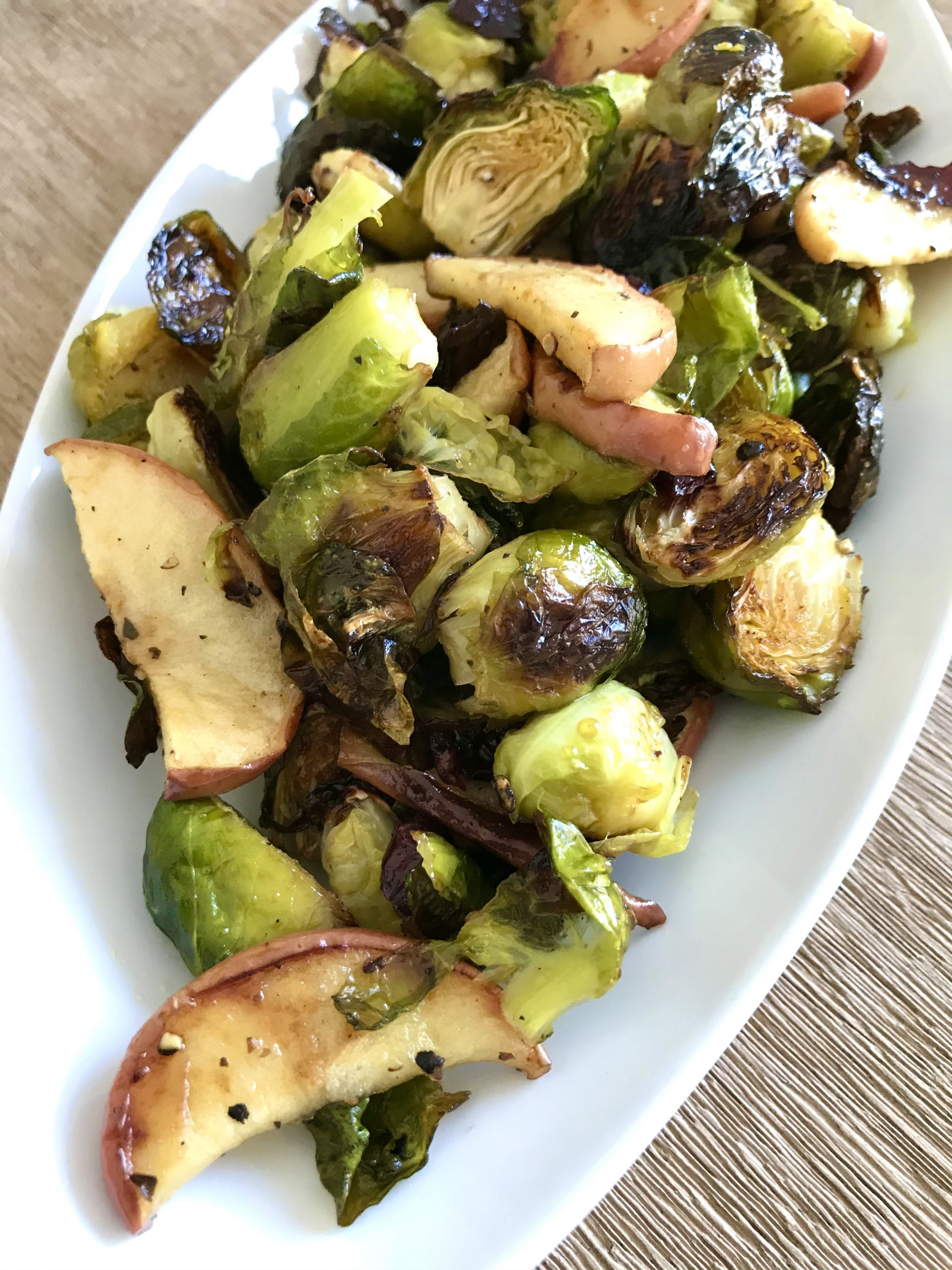 Roasted Brussels Sprouts and Apples Recipe