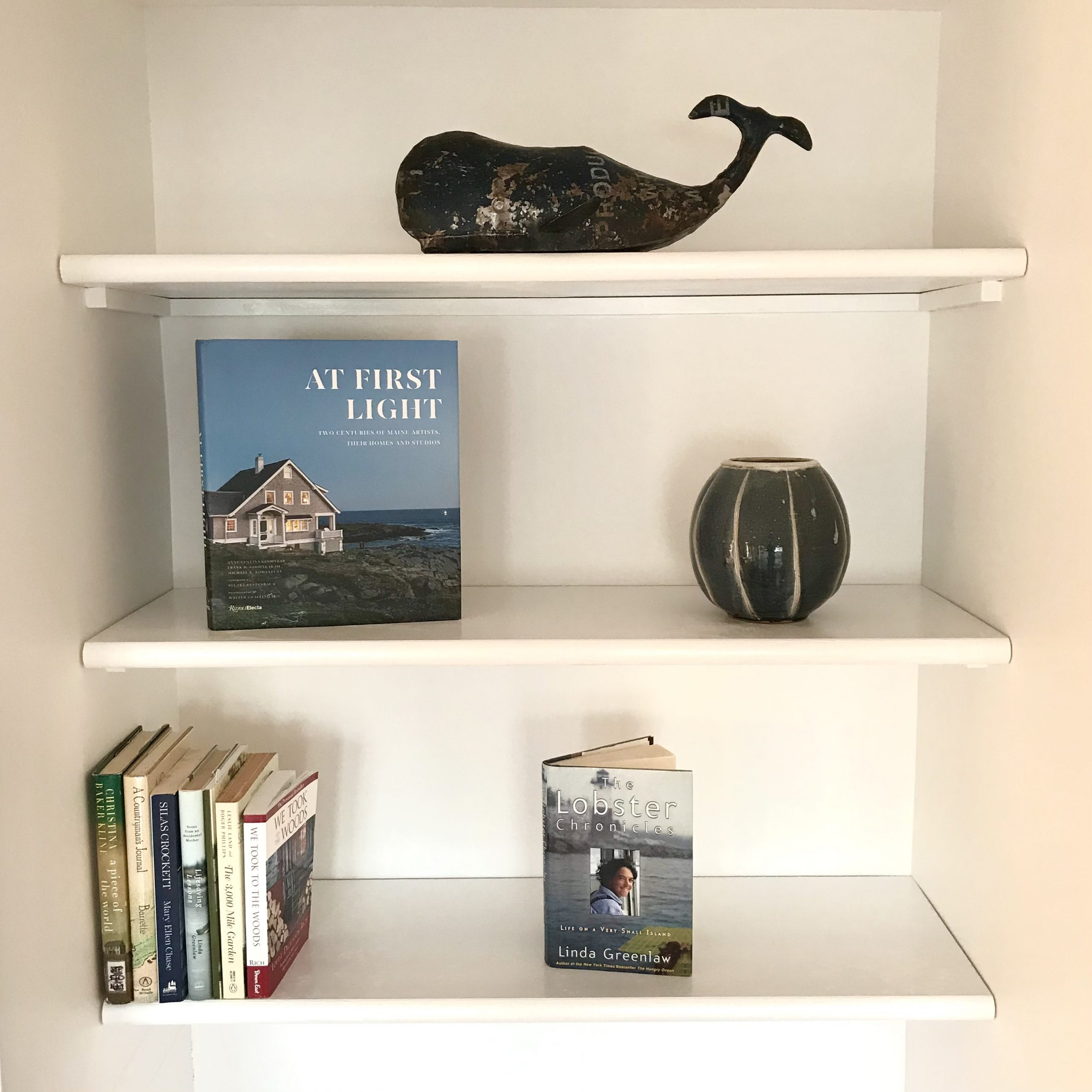 An Easy Bookshelf Made From Pine Stair Treads