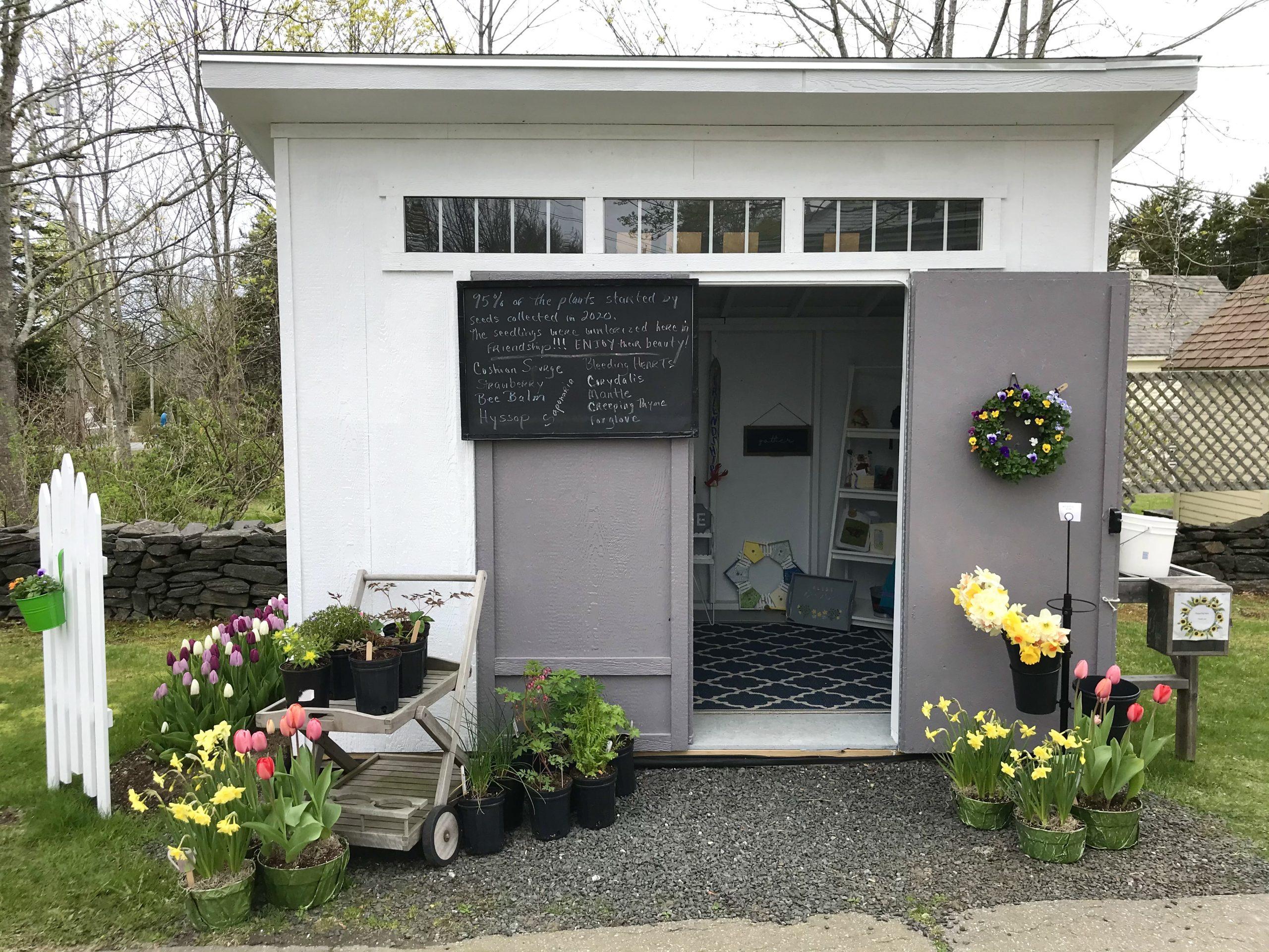 A Cute Little Roadside Flower Stand in Friendship, Maine