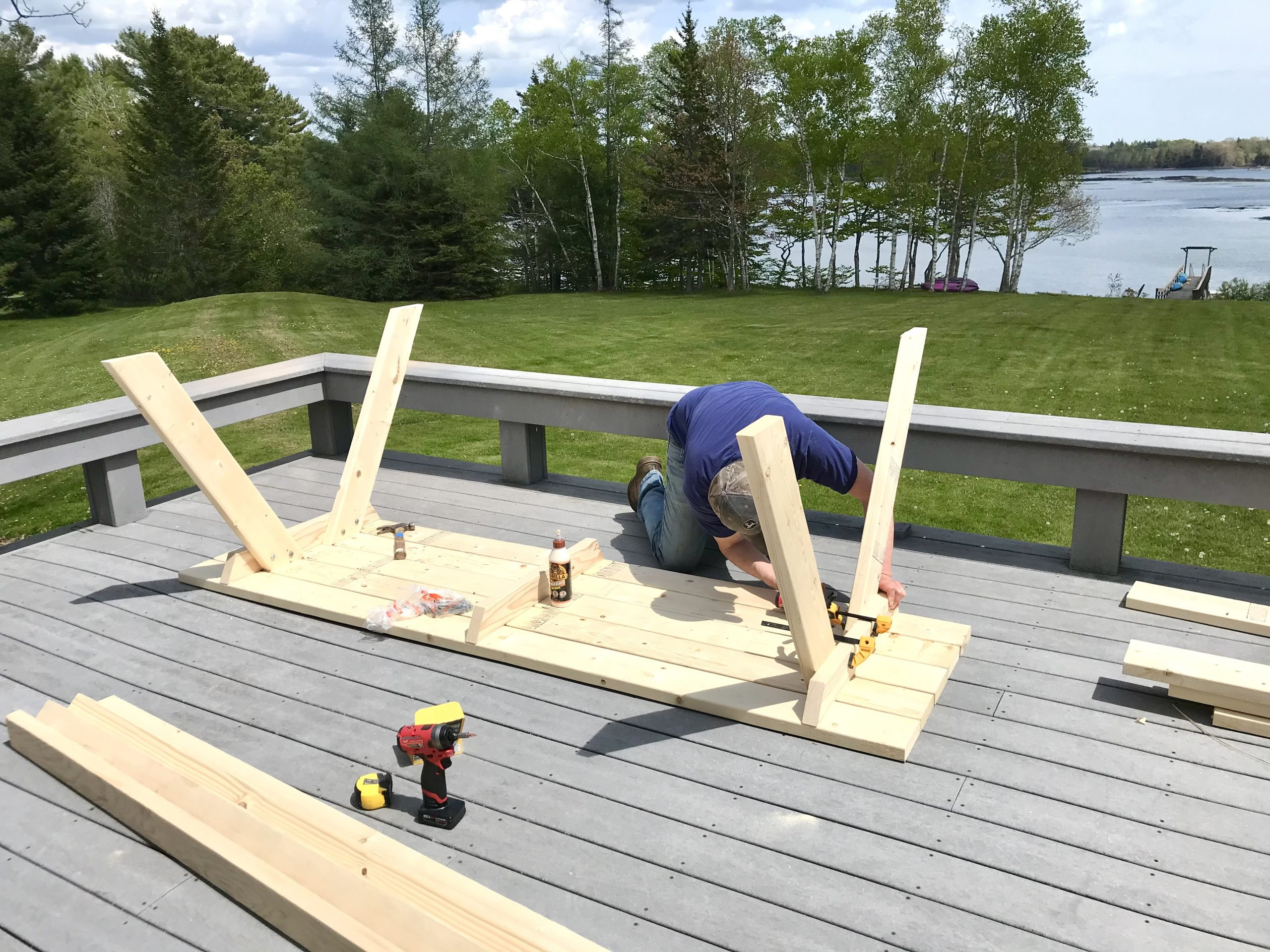 The HH Builds an 8 Foot Picnic Table