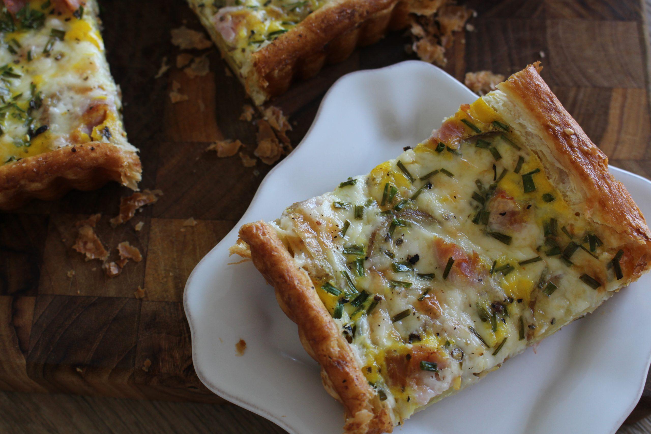 Ham and Potato Puff Pastry Tart